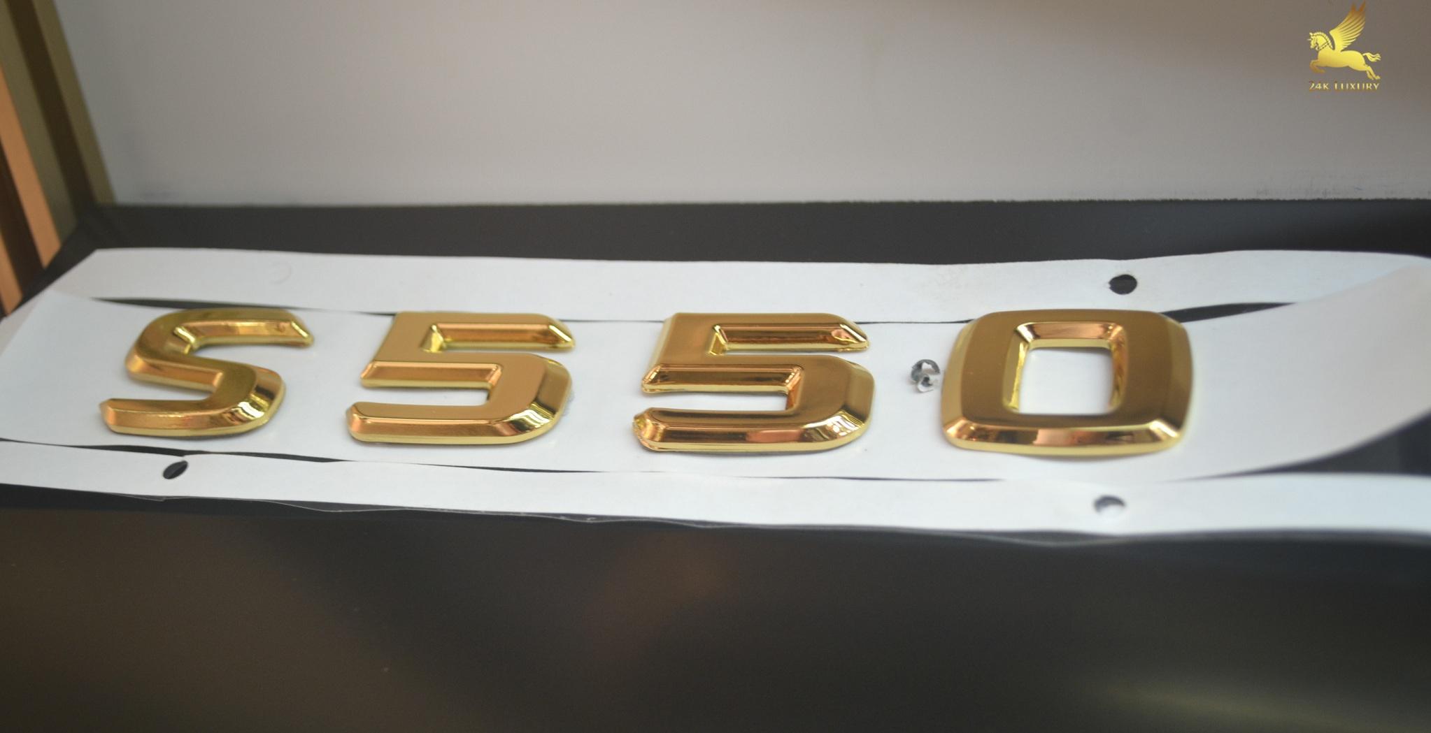 Logo S550 mạ vàng 24k