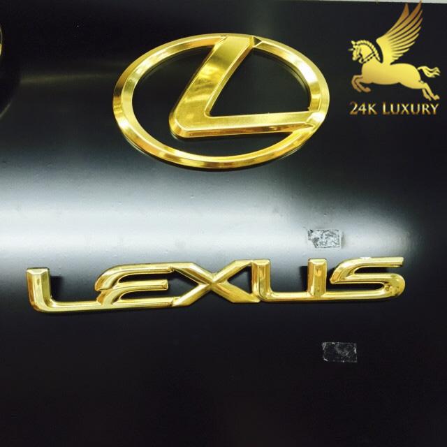 Bộ phụ kiện Lexus mạ vàng 24k