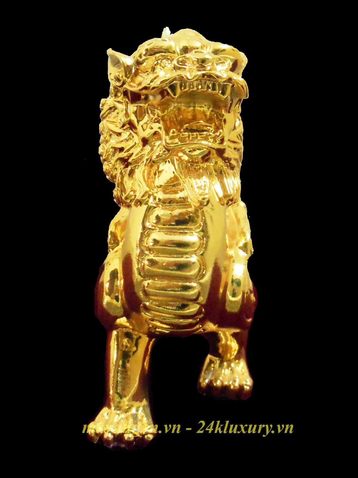 kỳ lân mạ vàng