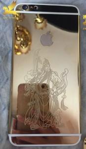 iphone 6 mạ vàng 24k khắc hình quan công