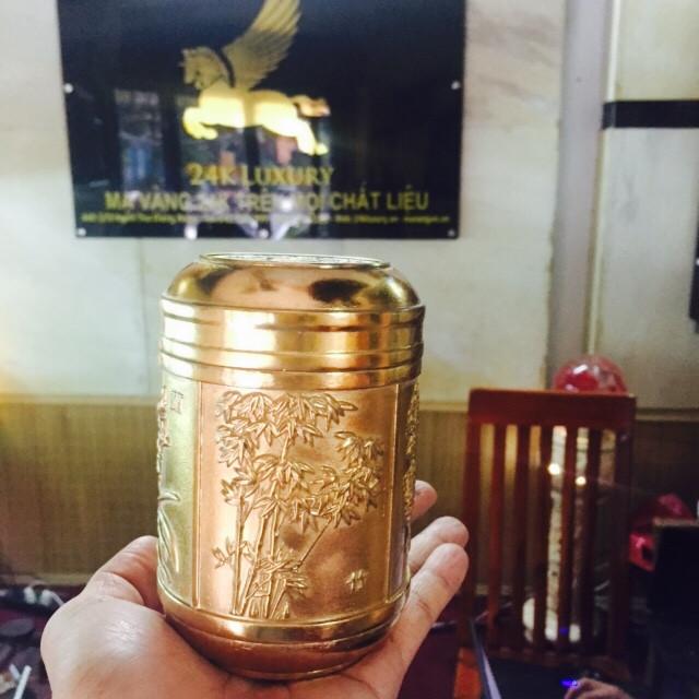 Bình trà mạ vàng 24k