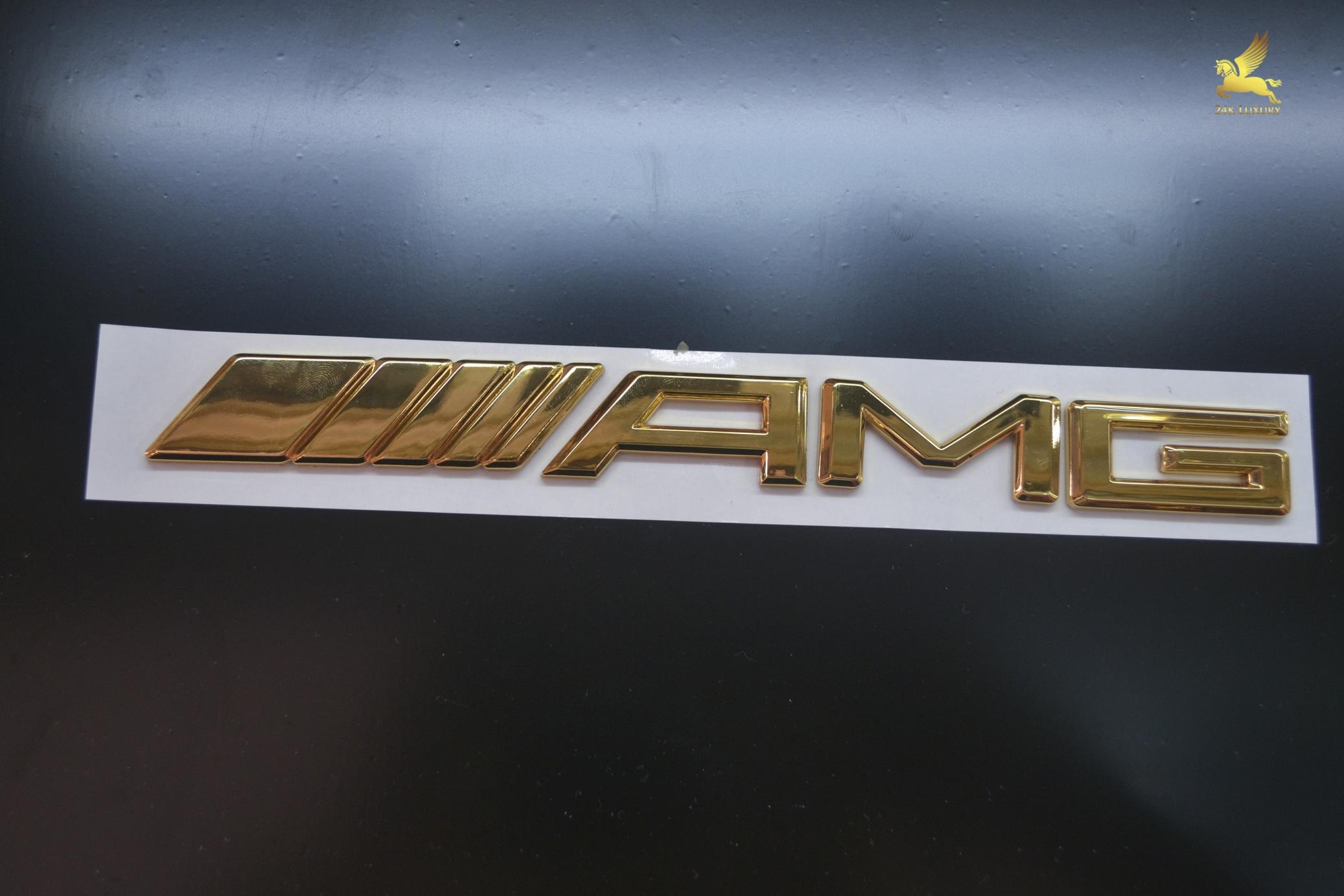 Logo AMG mạ vàng 24k sáng bóng