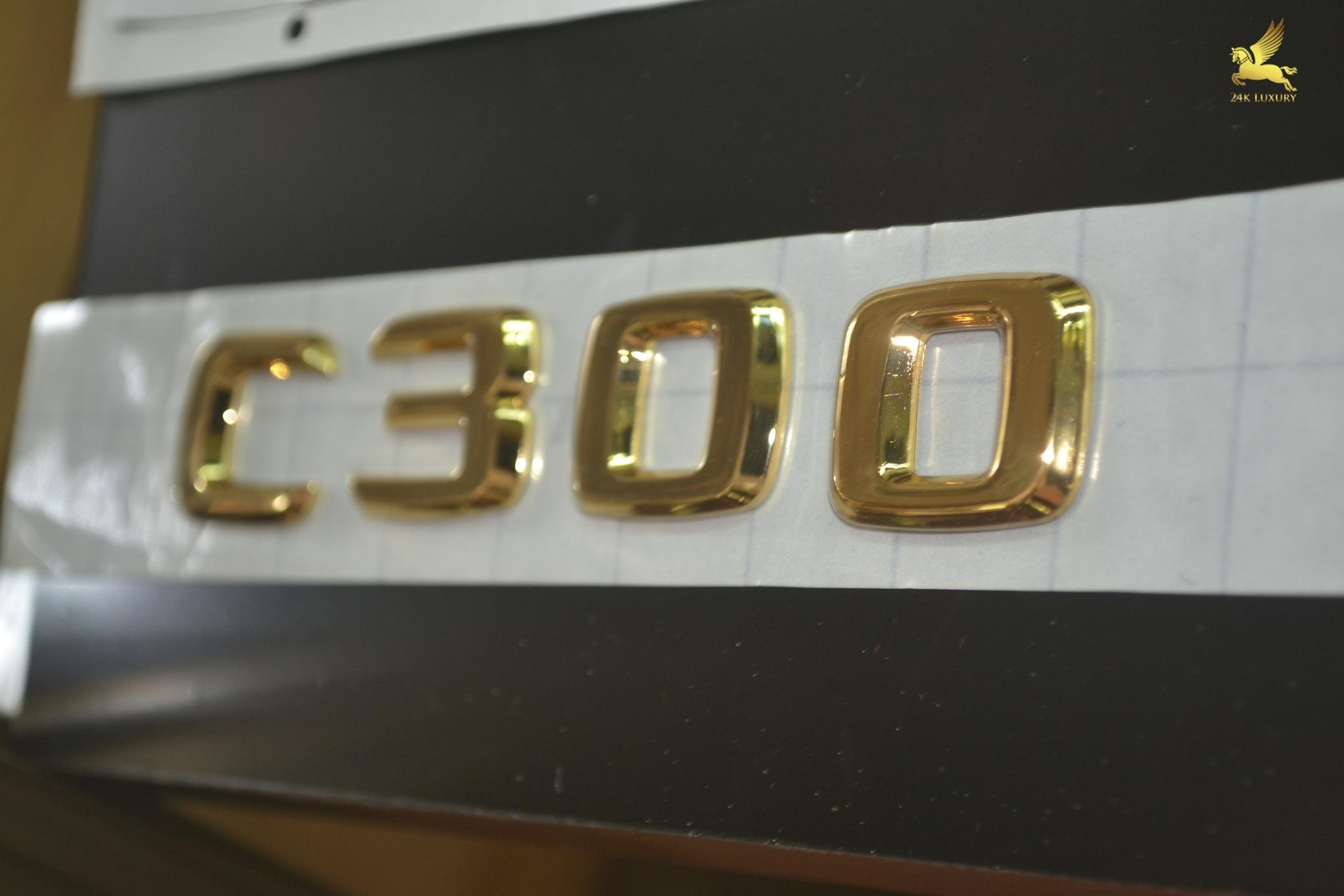 Logo C300 mạ vàng 24k độc đáo