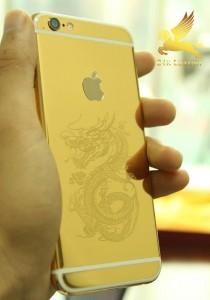 iphone 6 mạ vàng 24k khắc hình rồng