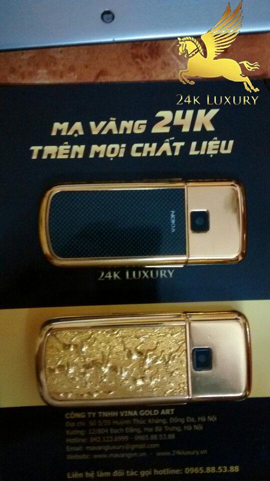 Mạ vàng phần nhựa điện thoại 8800 và 6700