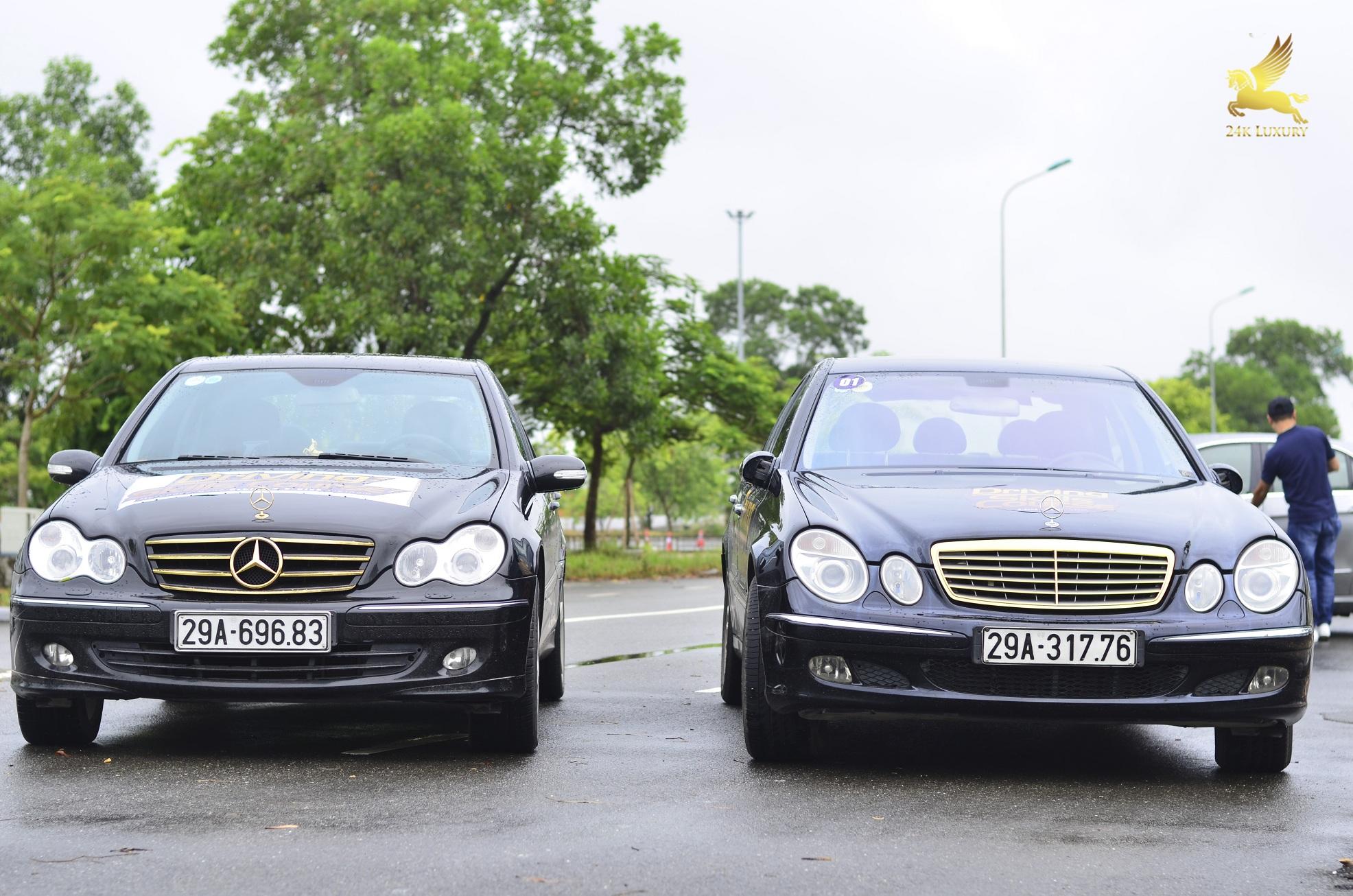 Bộ đôi ô tô Mercedes mạ vàng 24k