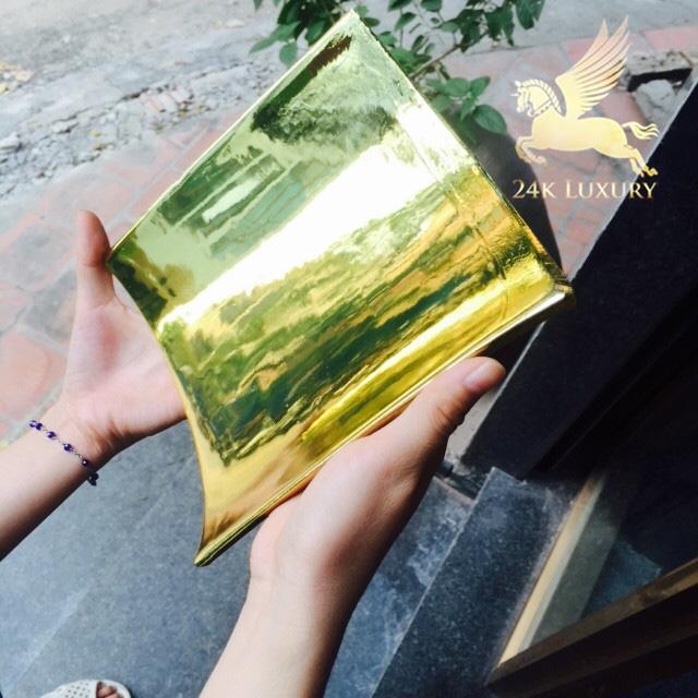 Mạ vàng ngói sứ tinh xảo