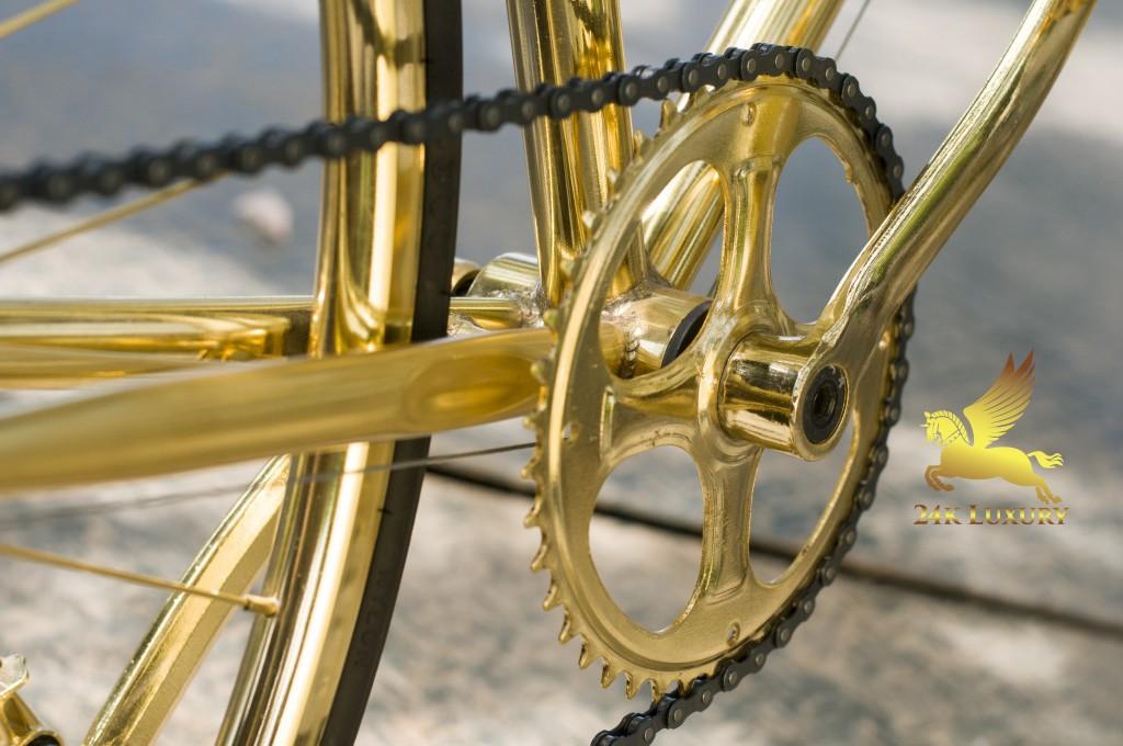 xe đạp mạ vàng